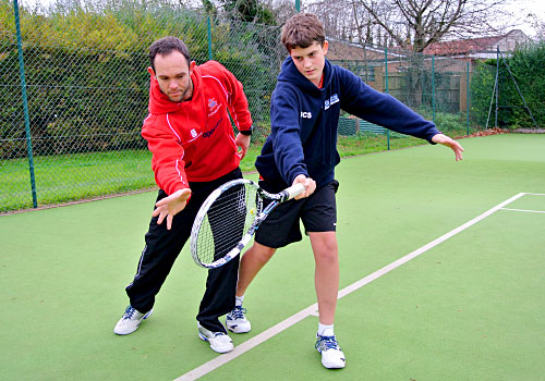 Coaching for tennis